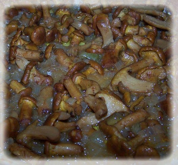 Kasza z pesto w sosie kurkowym