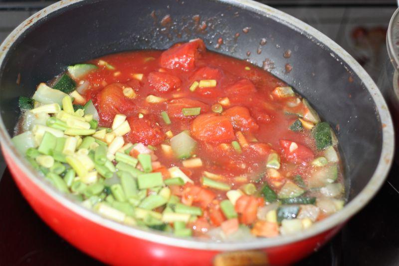 Kaszotto z warzywami i żeberkami