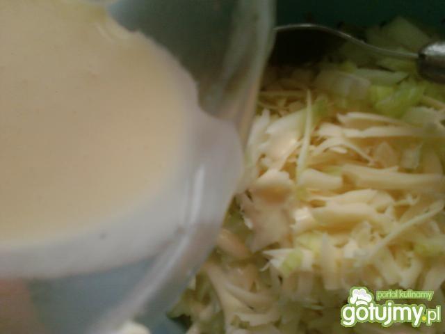 Kiełbaski zapiekane z serem i pieczarkam