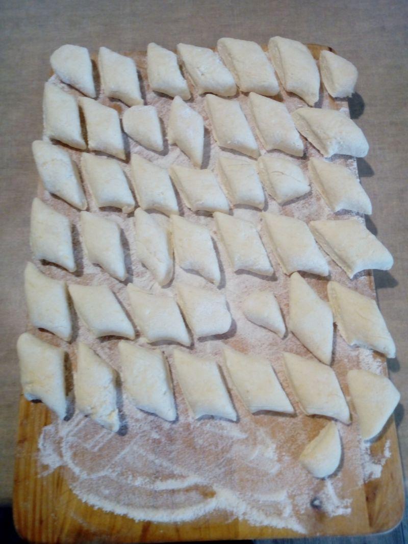 Kluski z białego sera - leniwe