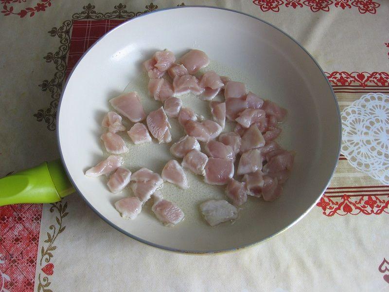 Kokardki z cukinią i kurczakiem