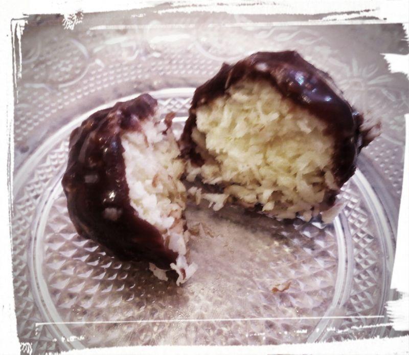 Kokosowe kulki w czekoladzie