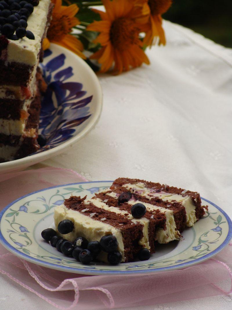 Kokosowo-jagodowe ciasto