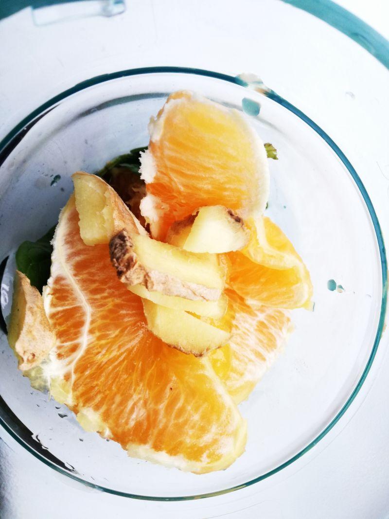 Koktajl szpinakowo-pomarańczowy