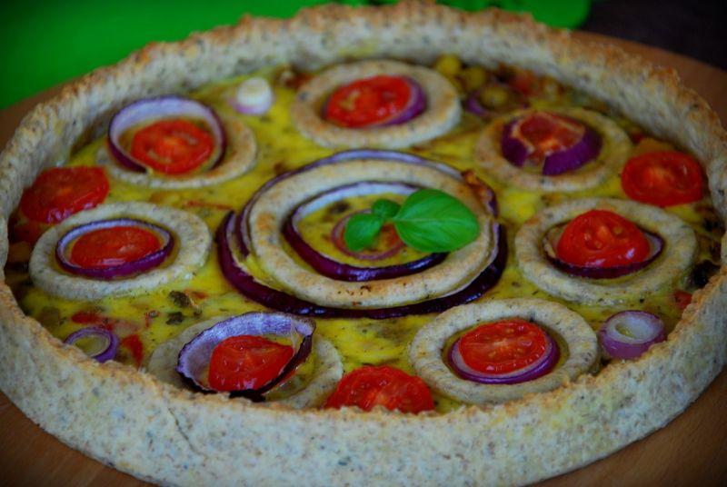Kolorowa pszenno- żytnia tarta