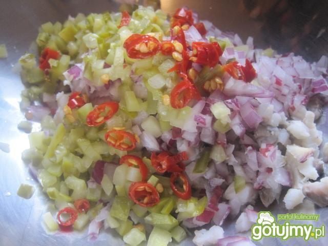 Kolorowa sałatka śledziowa Joli