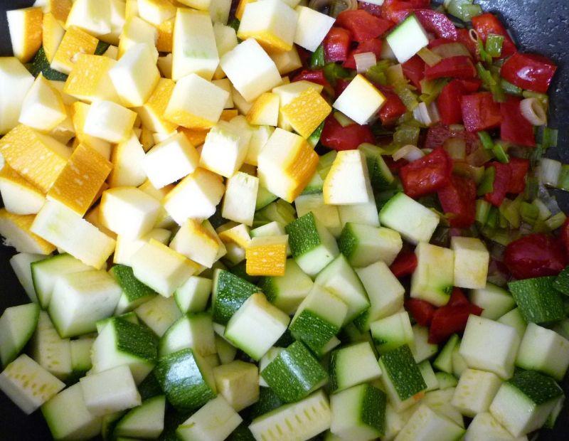 Kolorowe leczo z selerem i fasolką