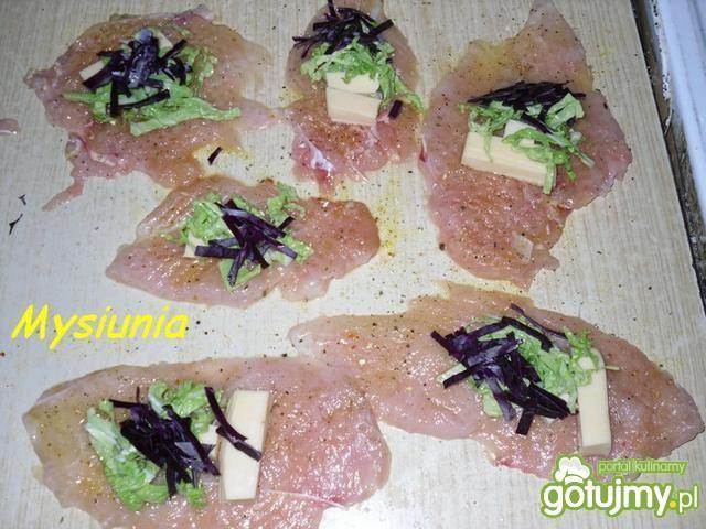 Kolorowe roladki z filetu