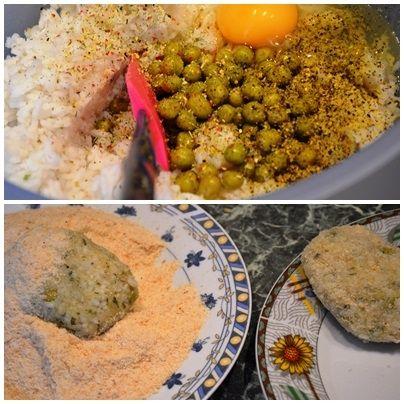 Kotleciki z dorsza i ryżu