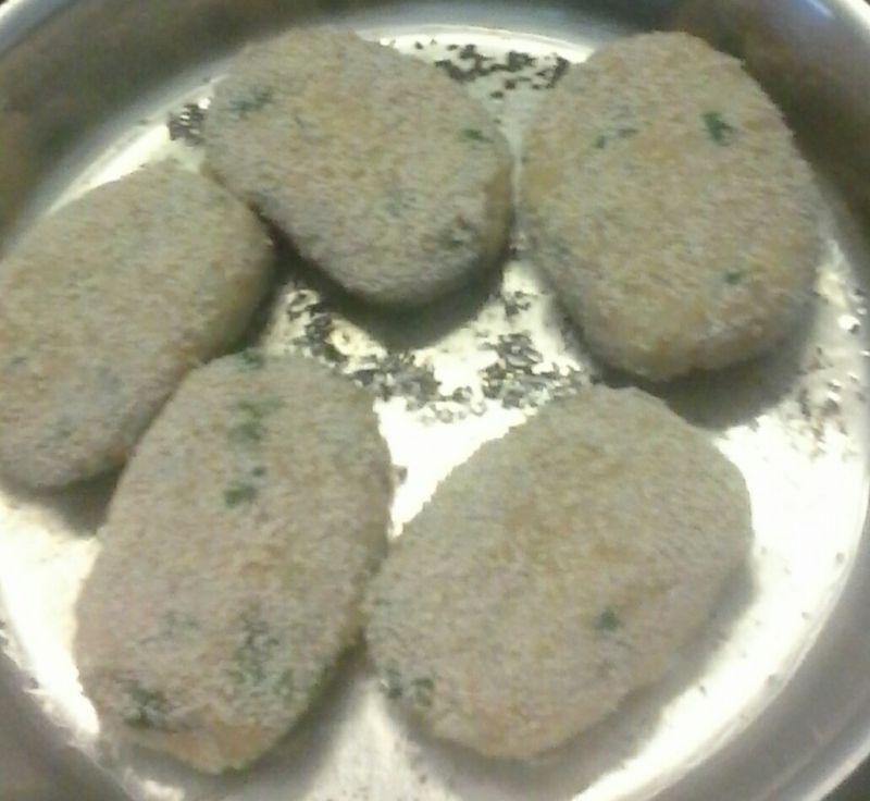 Kotlety kalafiorowo -  ziemniaczane