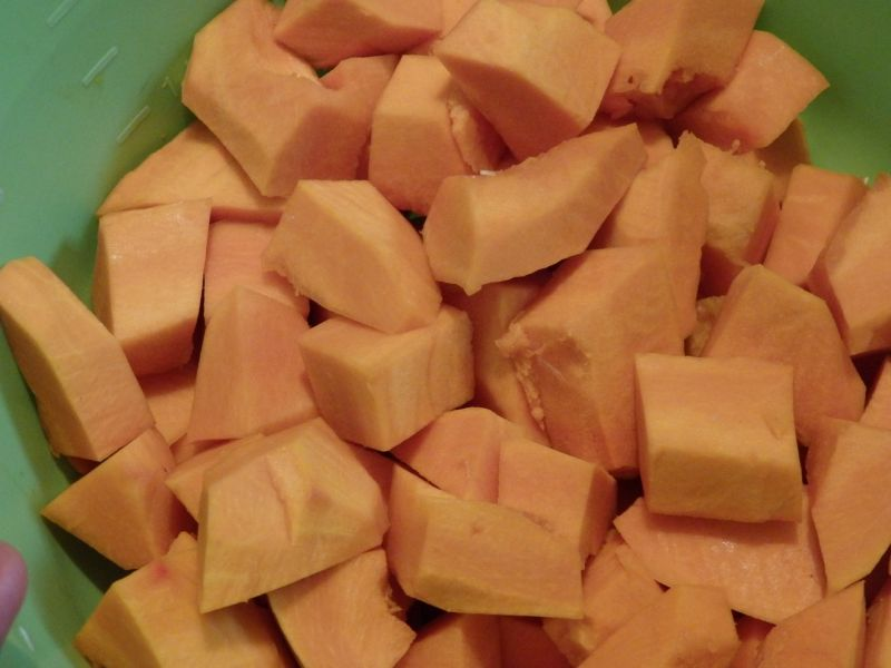 Krem z dyni z jabłkiem i pomarańczą
