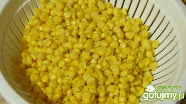 Krem z kukurydzy z kurczakiem i fasolką