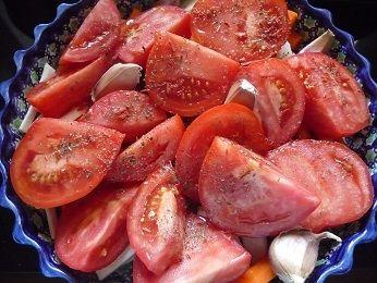 Krem z pieczonych pomidorów z lazurem