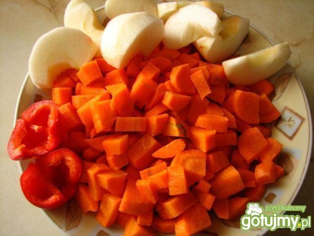 Kremowa marchewkowa z ryżem
