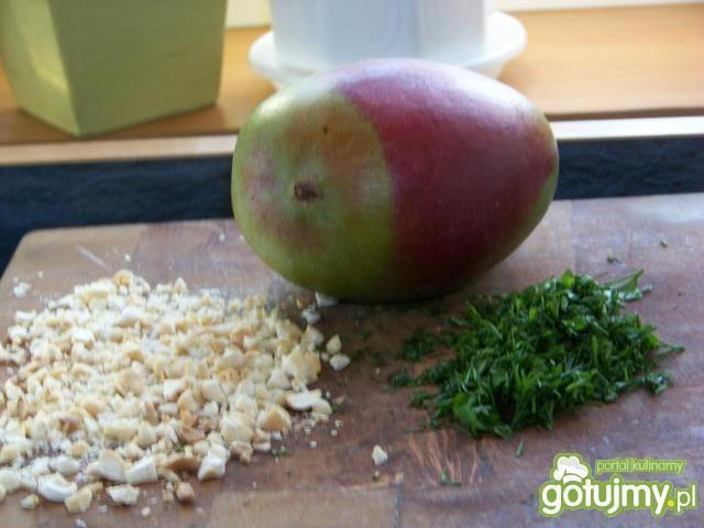 Krewetki z czosnkiem i sosem mango