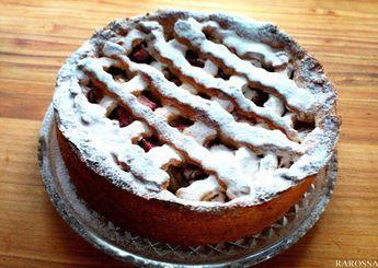 Kruche ciasto z rabarbarem