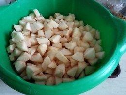 Kruche z jabłkami i budyniem