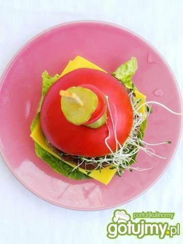 Kukurydziane cheesburgery z portobello