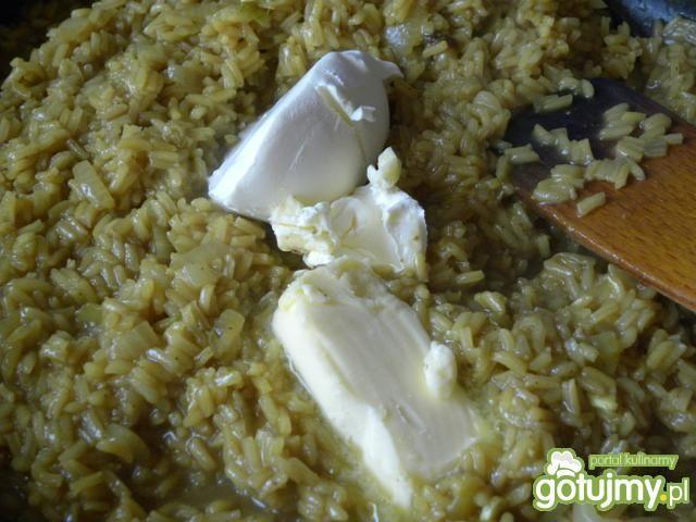 Kurczak orientalny na kremowym risotto