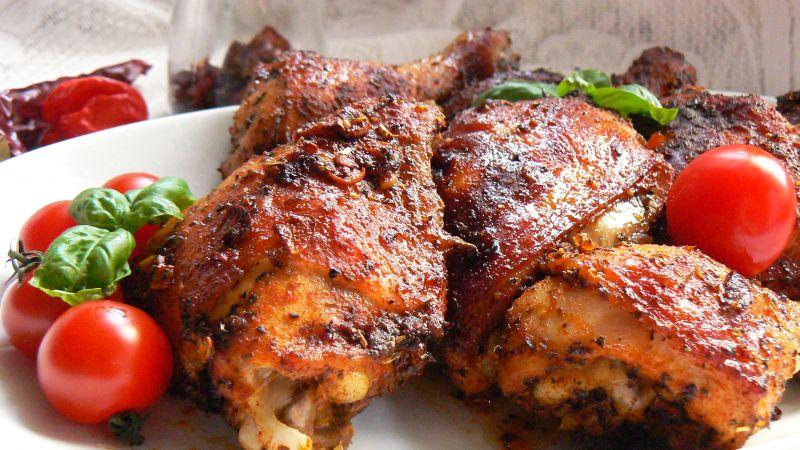 Kurczak pieczony na ostro