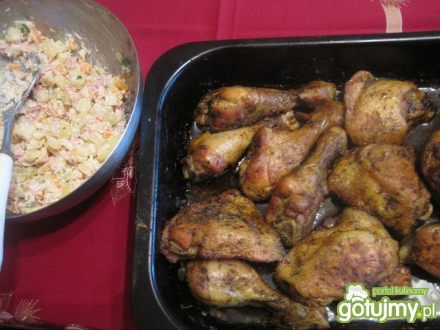 Kurczak w marynacie miodowej- pieczony