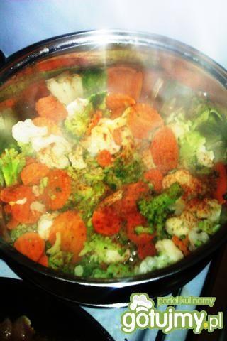 Kurczak z ryżem i warzywami 4