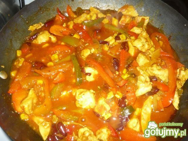 Kurczak z warzywami wg Danusi
