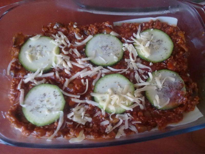Lasagne z grzybami i cukinią