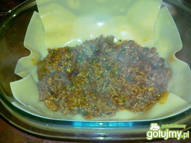 Lazania z mięsem i pieczarkami wg Konczi