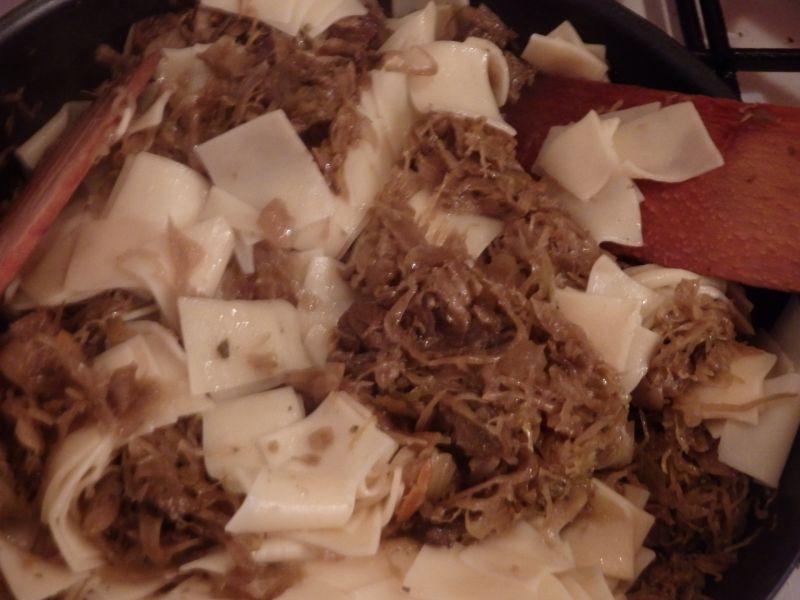 Łazanki z kapustą i grzybami