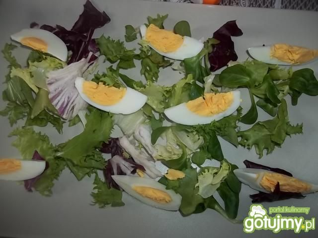 Lekka sałatka z jajkiem