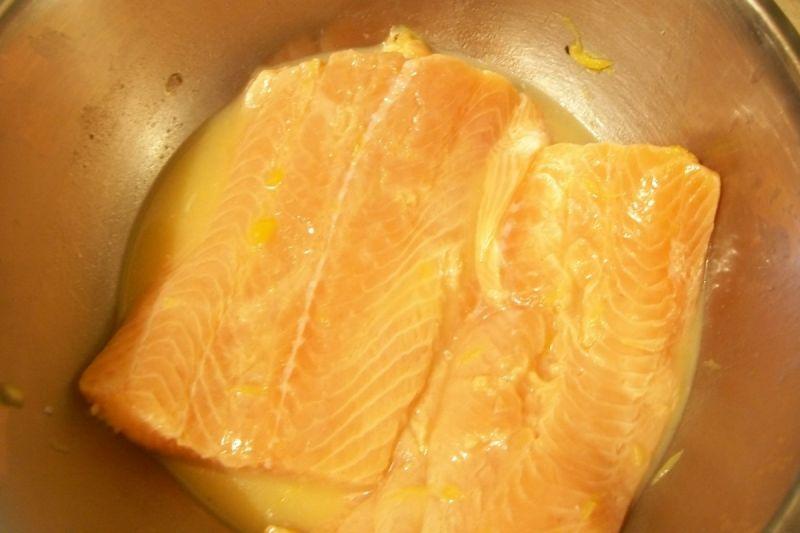 Łosoś pieczony z nutą pomarańczy