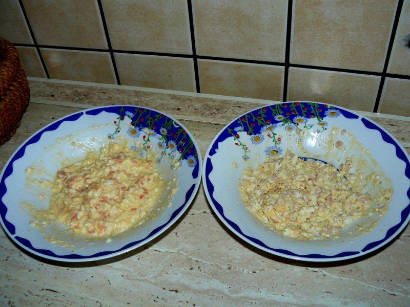 Łososiowa pasta jajeczna lub z szynką