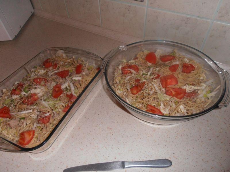 Makaronowa tarta z kurczakiem