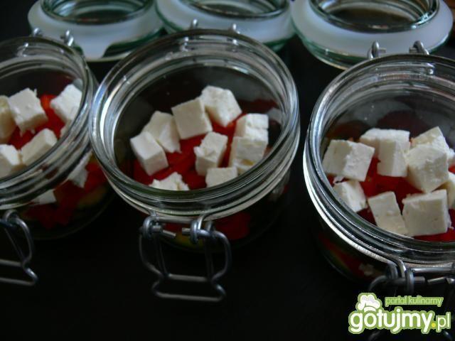 Marynowana sałatka z grillowanej cukini