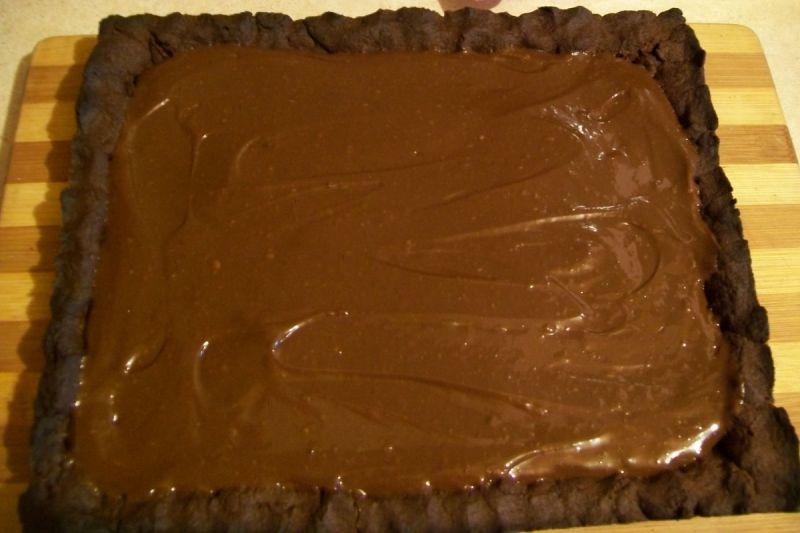 Mazurek orzechowo-czekoladowy