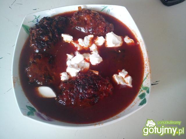 mielone z kapustą w  sosie pomidorowym