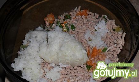 Mielone z marchewką i ryżem z parowaru