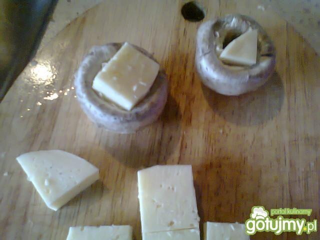 Mielone z pieczarkami i serem