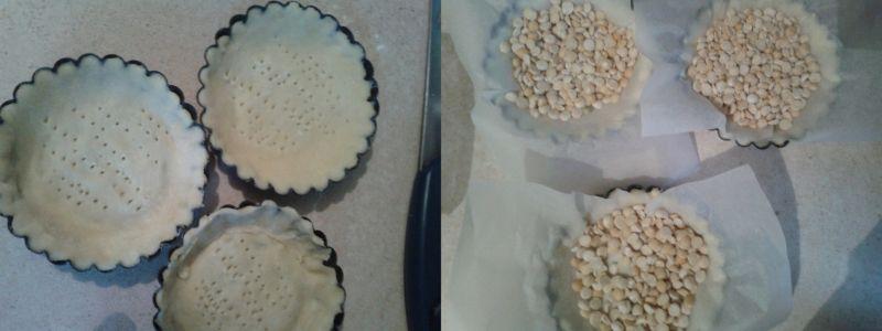 Mini tarty z żurawinowym kremem