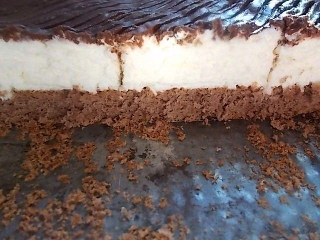 Mleczny kokos na kakaowym spodzie