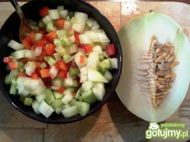 Moje gazpacho z melonem
