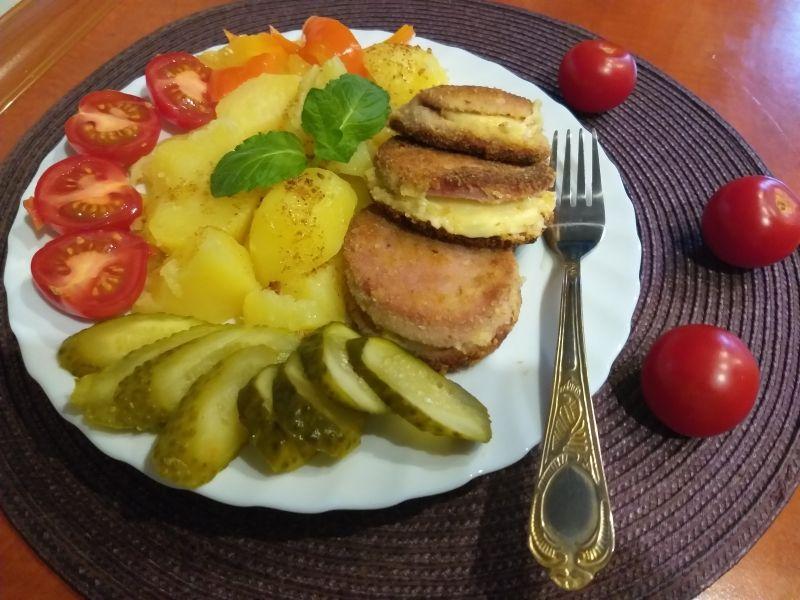 Mortadela z serem - kotlety