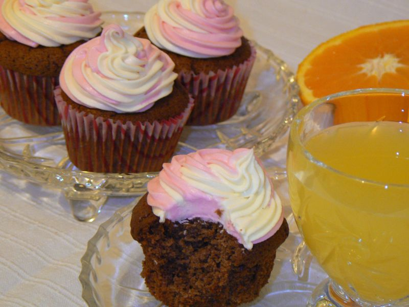 Muffinki czekoladowe z pomarańczową nutą