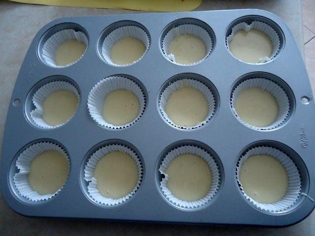 Muffinki z budyniem czekoladowym