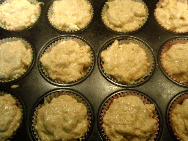Muffinki   z jabłkiem tartym