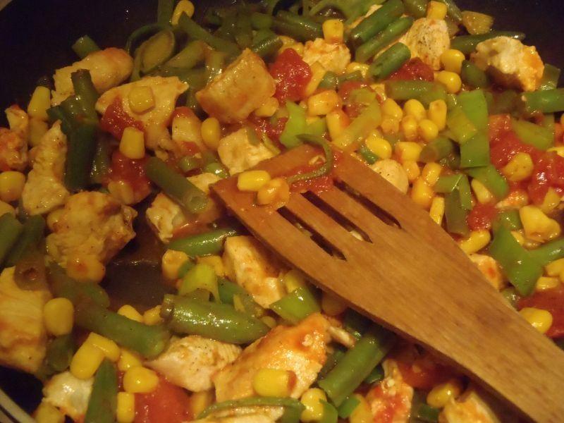 Naleśniki z kurczakiem i warzywami