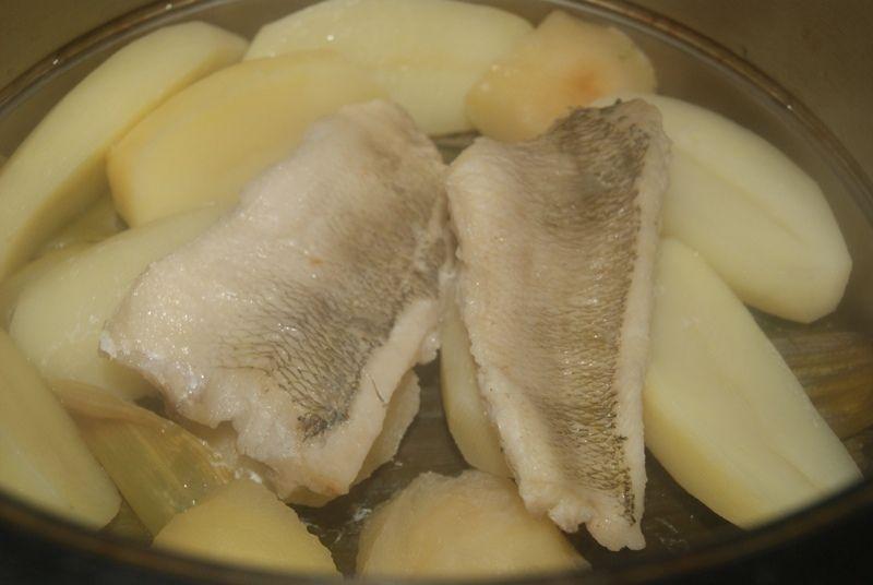 Nototenia na parze z jabłkowym smaczkiem