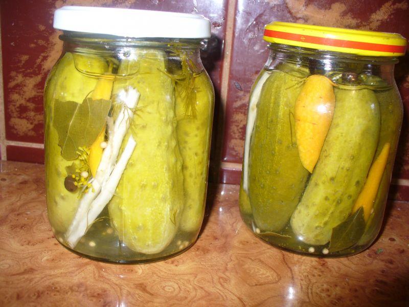 Ogórki konserwowe na pół - słodko