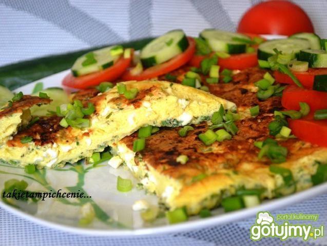 Omlet light z serkiem wiejskim